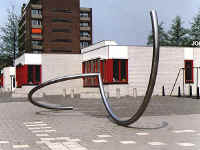 Dordrecht (dordt) Holland and the sculpture of Lucien den Arend - his site specific sculptures ordered by the city of Dordrecht (dordt)