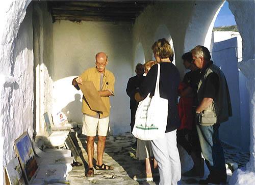 Workshops cursussen tekenen en schilderen op paros in for Uurprijs schilder